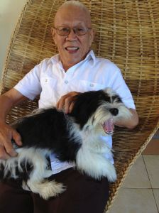 Rolando Espina, journalist, scarredcat's dad