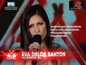 Eva de los Santos tried out for X-Factor Philippines. photo from abs-cbnnews.com