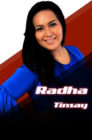 RADHA TINSAY shows the allure of abondanza. Photo from thevoice.abs-cbn