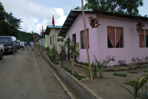 Core shelters in Ahuy, Iloilo province. Photo from iloilocapitolnewsfiles.com