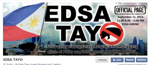 EDSA Tayo poster, from EDSA Tayo events page