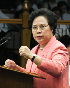 Sen. Miriam Defensor-Santiago, courtesy of her Facebook page