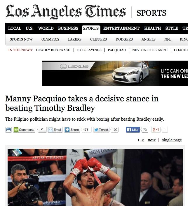 LA Times story of Pacquiao-Bradley2