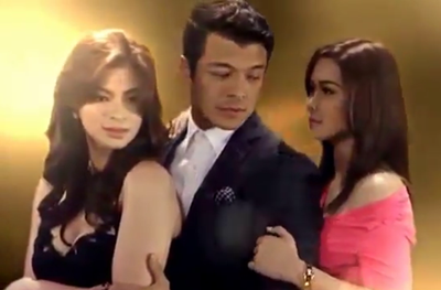 The cast of 'The Legal Wife'. From left, Angel Locsin, Jericho Rosales and Maja Salvador