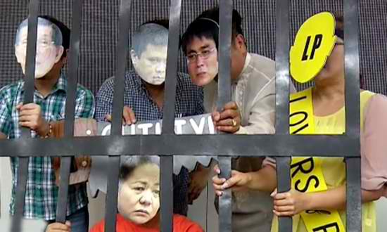 #scrappork network pushes for plunder raps against Senators Enrile, Revilla and Estrada and Janet Napoles. Photo from solarnews.com
