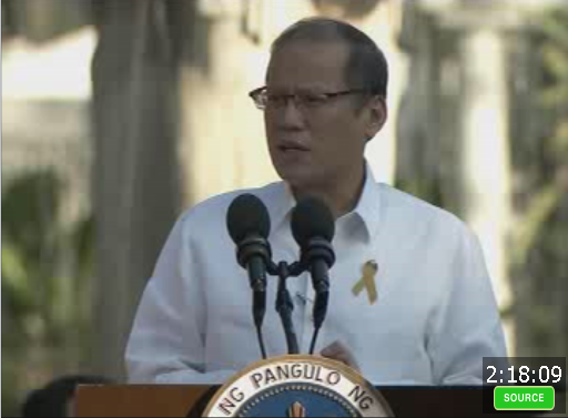 "President Benigno Simeon Aquino tells a gathering of ""Christian leaders"" that he was fooled by Special Action Forces (SAF) Director Leo Napenas. Photo by ANCAlerts"