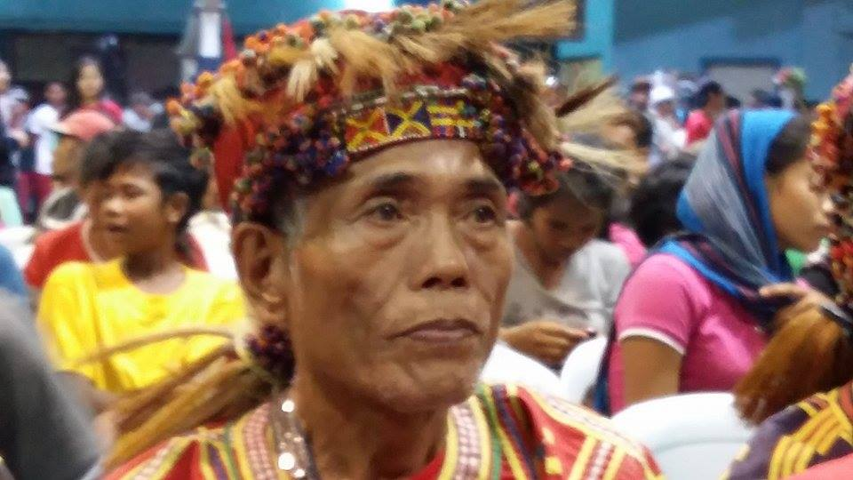 Photo of Manobo elder courtesy at funeral honours for Leoncio Pitao of the New People's Army courtesy of Obet de Castro