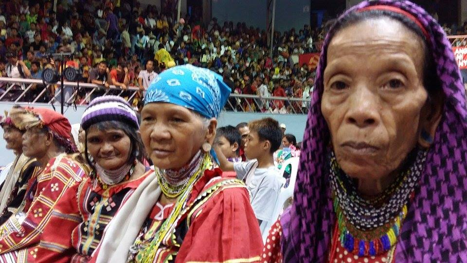 Manobo women at the funeral rites for New People's Army commander, Leoncio Pitao.