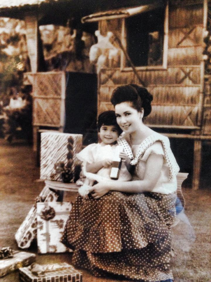 The child, Grace Poe, with mother Susan Roces