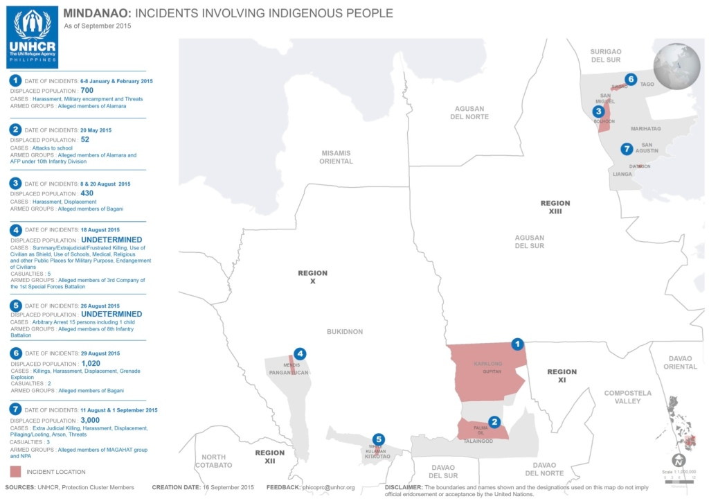 UNHCR incident report map