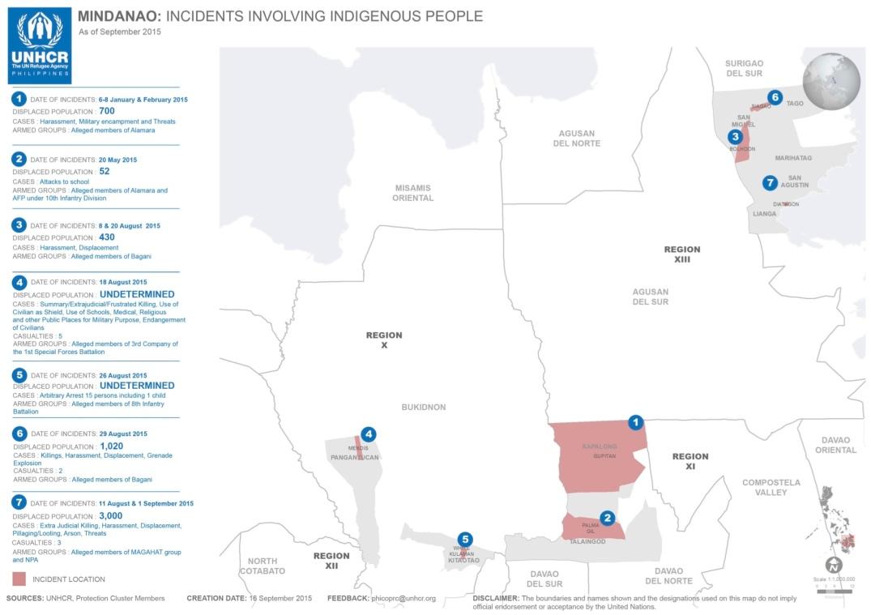 UNHCR incident report map