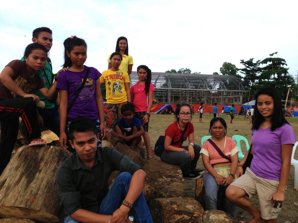Alcadev students and teachers at the Tandag City evacuation camp. Photo by Inday Espina-Varona