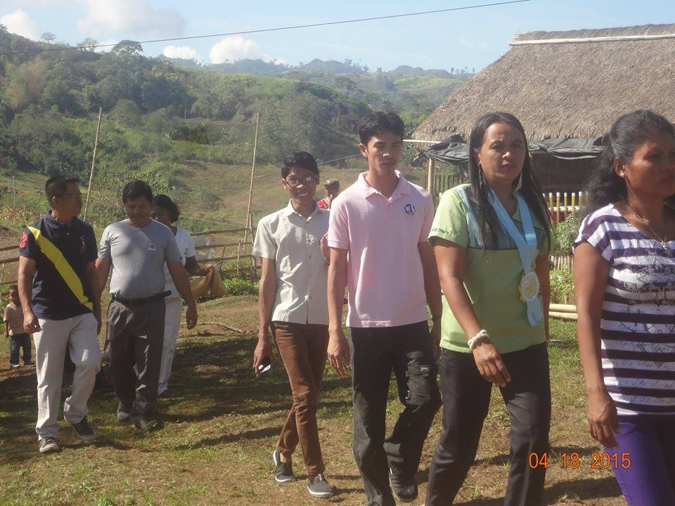 Barangay captain arrives at MISFI to attend moving up rites.