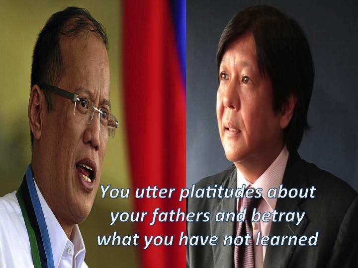 President Benigno Simeon Aquino III and Sen. Ferdinand Marcos Jr.