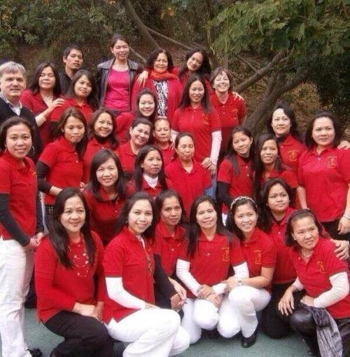OFWs in Hongkong active in churches. This is Ednalyn's Catholic church choir.