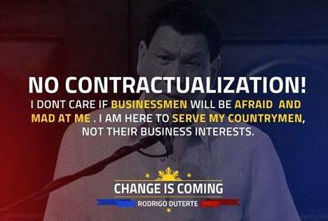 duterte contractualization